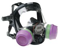 Honeywell North 7600 Series Silicone Full Facepiece Respirators, 1 in x 1 in Regular Silicone