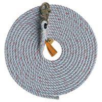 Rope Lifelines with Snap Hooks, 75 ft, Self-Locking Snap Hook, 310 lb