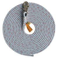 Rope Lifelines with Snap Hooks, 150 ft, Self-Locking Snap Hook, 310 lb