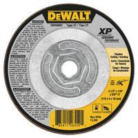 DEWALT Ceramic Grinding Wheel, 4 1/2 in Dia, 1/8 in Thick, 5/8 Arbor, 24 Grit Ceramic