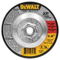 DEWALT Ceramic Grinding Wheel, 4 1/2 in Dia, 1/4 in Thick, 5/8 Arbor, 24 Grit Ceramic