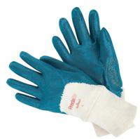 MEMPHIS GLOVE Predalite Nitrile Gloves, Large, Blue, Palm Coated, Smooth Finish