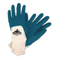 MEMPHIS GLOVE Predalite Nitrile Gloves, Medium, Blue/White