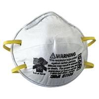 N95 Particulate Respirators, Half Facepiece, Two fixed straps, Sm