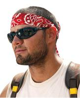 Ergodyne Chill-Its 6700 Evaporative Cooling Bandanas, Red Cotton Size Universal