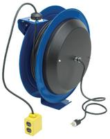 Pc13 Series Power Cord Reels, 12/3 Awg, 20 A, 50 Ft, Quad Industrial Receptacle.
