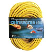 Vinyl Extension Cord, 100 ft, 1 Outlet