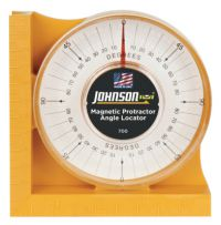 Magnetic Protractor Angle Locator,  0 - 90 Degrees, Inch, Metric and Graduations