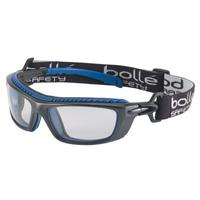 BOLLE SAFETY Baxter Series Safety Glasses, Clear Lens, Platinum Anti-Fog/Anti-Scratch