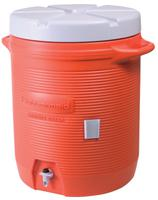 RUBBERMAID HOME PRODUCTS Water Coolers, 10 gal, Orange