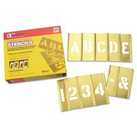 Brass Stencil Letter & Number Sets, Brass, 2 in
