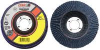 Flap Discs, Z3 -100% Zirconia, Regular, 4 1/2 in ,36 Grit,5/8 Arbor, 13,300 rpm,T27