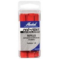 Red-Riter Fineline Metal Marker Refills, Flat, Red