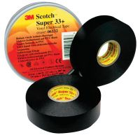 Scotch Super Vinyl Electrical Tapes 33+, 66 ft x 3/4 in, Black