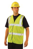 Class 2 Mesh Vests with 3M Scotchlite Reflective Tape, Small, Hi-Viz Yellow