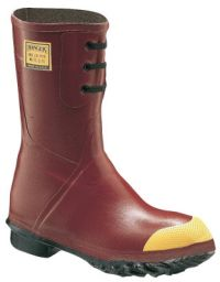 Insulated Steel Toe Boots, Size 13, 12 in H, Rubber, Red