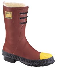 Insulated Steel Toe Boots, Size 10, 12 in H, Rubber, Red