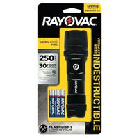 """Indestructible Series Flashlight, 3 AAA, 20 to 250 Lumens, Black"""