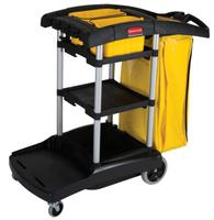 BLACK HIGH CAPACITY CLEANING CART