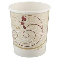 Symphony 32Oz Flexstyle Double Sided Poly Paper Food Container.