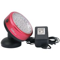 LED Rechargeable Magnetic Rotating Work Light, 150 lm, Red/Gray