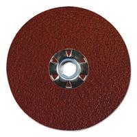 """""""Tiger Aluminum Resin Fiber Discs, 5 in Dia, 5/8 Arbor, 50 Grit, Aluminum Oxide"""""""