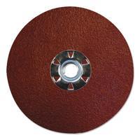 """""""Tiger Aluminum Resin Fiber Discs, 5 in Dia, 5/8 Arbor, 120 Grit, Aluminum Oxide"""""""