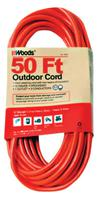 Woods Wire Outdoor Round Vinyl Extension Cords Extension Cord 12/3 X100 Ft Oran