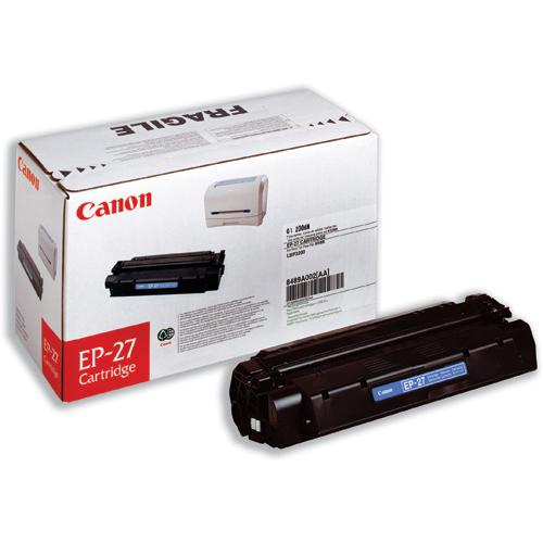 Canon EP-27 Laser Toner Cartridge Page Life 2500pp Black Ref 8489A002