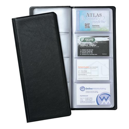 5 Star Office Classic Business Card Book PVC 64 Pockets for 128 Cards 278x120mm Black by The OT Group, 005989