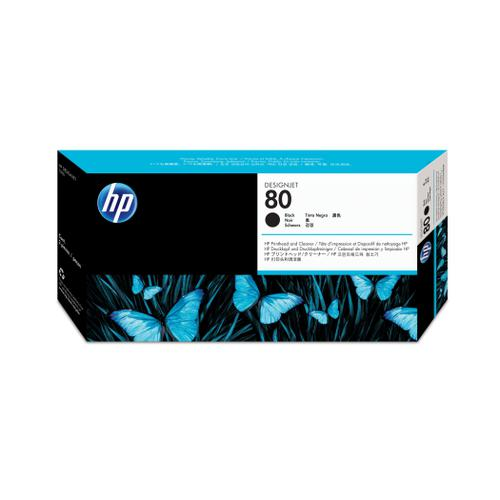 Hewlett Packard [HP] No.80 Inkjet Printhead and Cleaner 17ml Black Ref C4820A