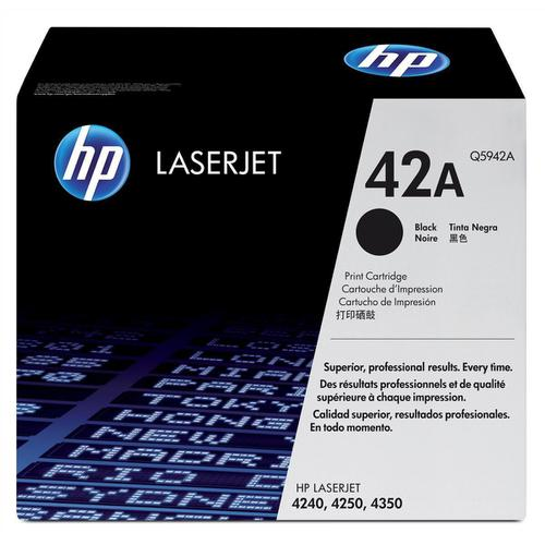 HP 42A Laser Toner Cartridge Page Life 10000pp Black Ref Q5942A