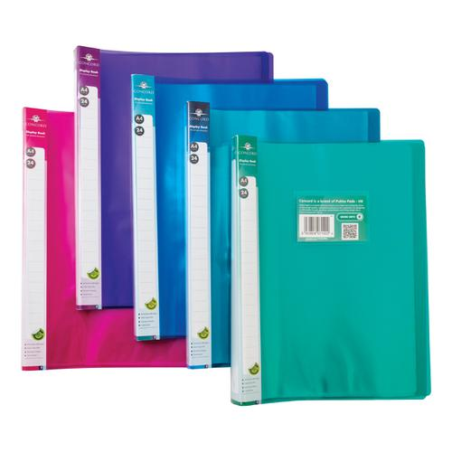 Concord Display Book Polypropylene 24 Pockets A4 Assorted Ref 7142-PFL [Pack 10]