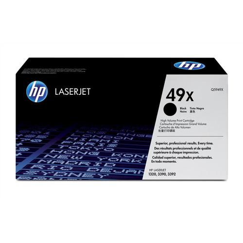 HP 49X Laser Toner Cartridge High Yield Page Life 6000pp Black Ref Q5949X