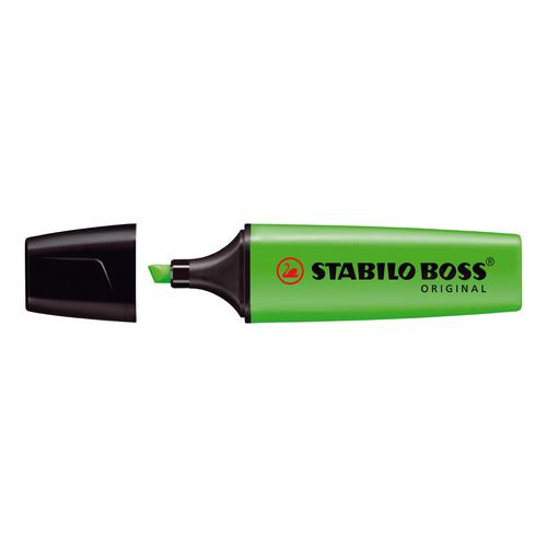 Stabilo Boss Highlighters Chisel Tip 2-5mm Line Green Ref 70/33/10 [Pack 10]