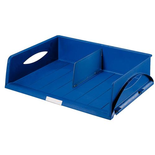 Leitz Sorty Jumbo Letter Tray W490xD385xH125mm Landscape A3 Maxi Blue Ref 52320035