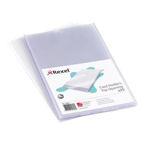 Rexel Clear Card Holder Nyrex Open on Short Edge A5 Ref 12060 [Pack 25]