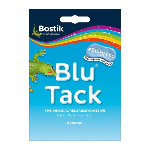 Bostik Blu Tack Original Mastic Adhesive Non-toxic Handy Pack 60g Ref 801103 [Pack 12]