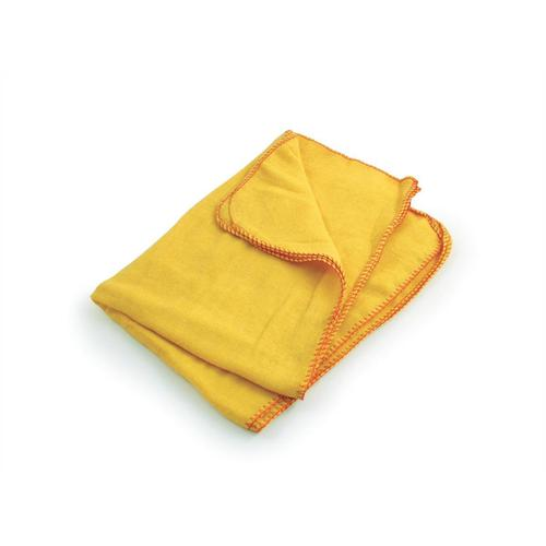 5 Star Facilities Yellow Dusters 100% Cotton 350x350mm [Pack 10] by The OT Group, 034729