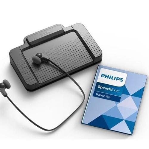 Philips Transcription Kit Headset 234 Foot Control 210 Software Web Licence Black Ref LFH7177/06