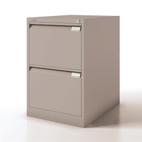 Bisley Filing Cabinet 2 Drawer 470x622x711mm Goose Grey Ref 1623-av4