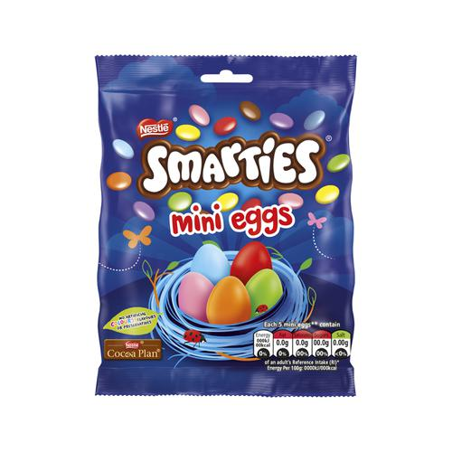 Nestles Smarties Mini Eggs Bag 80g Ref 12317217 [PROMOTION]