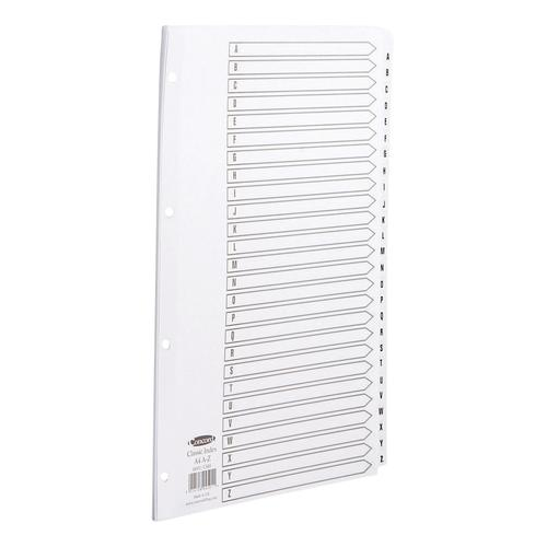 Concord Classic Index A-Z 26-Part Mylar-reinforced Punched 4 Holes 150gsm A4 White Ref 04501/ CS45