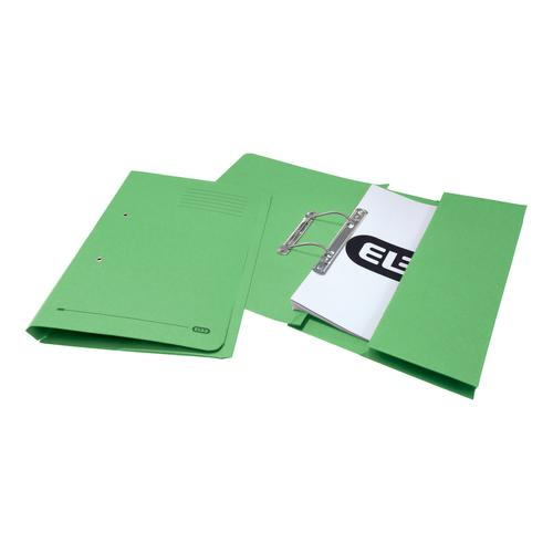 Elba StrongLine Transfer Spring File Recycled 320gsm Foolscap Green Ref 100090147 [Pack 25]