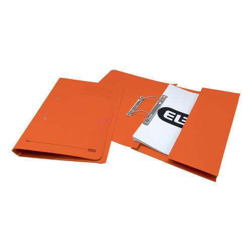 Elba StrongLine Transfer Spring File Recycled 320gsm Foolscap Orange Ref 100090148 [Pack 25]