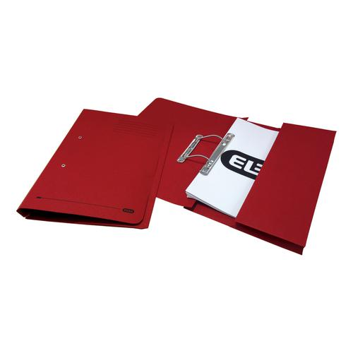 Elba StrongLine Transfer Spring File Recycled 320gsm Foolscap Bordeaux Ref100090149[Pack 25]