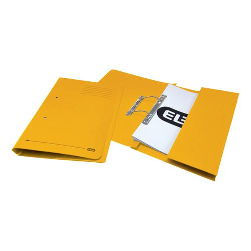 Elba StrongLine Transfer Spring File Recycled 320gsm Foolscap Yellow Ref 100090150 [Pack 25]