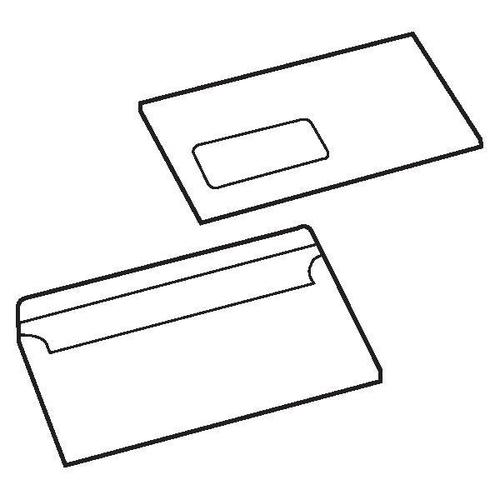 5 Star Value Envelopes Wallet Press Seal Window 90gsm DL 110x220mm White [Pack 1000] by The OT Group, 088508