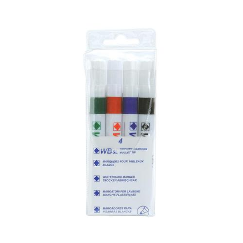 5 Star Value Strategy SL Dry Wipe Markers Assorted [Pack 4] by The OT Group, 092546