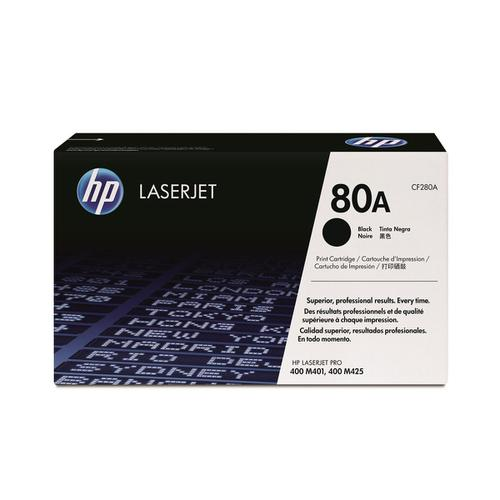 HP 80A Laser Toner Cartridge Page Life 2560pp Black Ref CF280A